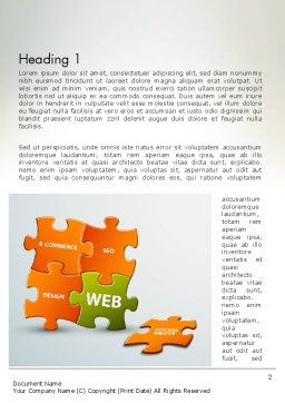 Puzzle with Internet Words Word Template, First Inner Page, 12432, Careers/Industry — PoweredTemplate.com