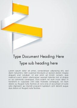 Spiral Banner Word Template, Cover Page, 12435, Business — PoweredTemplate.com