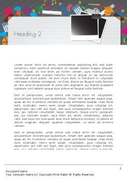 School Supplies Word Template, Second Inner Page, 12437, Education & Training — PoweredTemplate.com