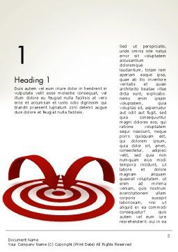 Targeting Customers Word Template, First Inner Page, 12440, Careers/Industry — PoweredTemplate.com
