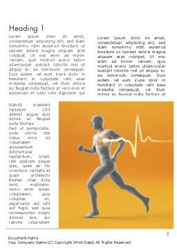Jogging and Heartbeat Word Template, First Inner Page, 12441, Medical — PoweredTemplate.com