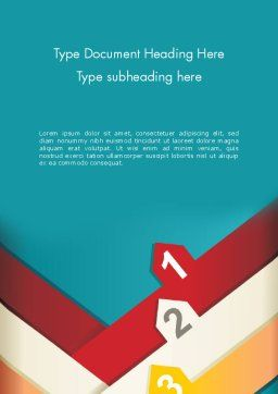 Colorful Options Word Templat, Cover Page, 12449, Business Concepts — PoweredTemplate.com