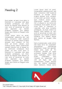 Colorful Options Word Templat, Second Inner Page, 12449, Business Concepts — PoweredTemplate.com