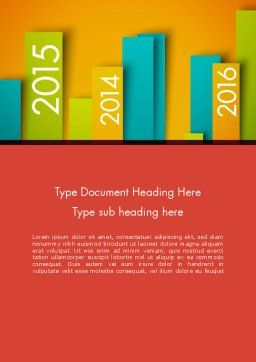 Colorful Timeline Word Template, Cover Page, 12452, Business — PoweredTemplate.com