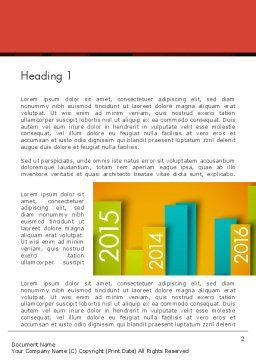 Colorful Timeline Word Template, First Inner Page, 12452, Business — PoweredTemplate.com