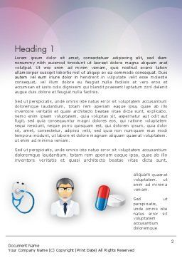 Hospital Presentation Word Template, First Inner Page, 12453, Medical — PoweredTemplate.com