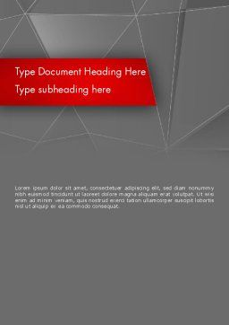 Abstract Connected Layers Word Template, Cover Page, 12457, Business — PoweredTemplate.com