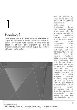 Abstract Connected Layers Word Template, First Inner Page, 12457, Business — PoweredTemplate.com
