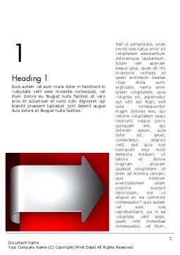 Arrow Tab Word Template, First Inner Page, 12461, Business — PoweredTemplate.com