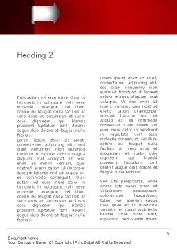 Arrow Tab Word Template, Second Inner Page, 12461, Business — PoweredTemplate.com