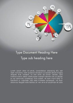 Pie Chart with Labels Word Template Cover Page