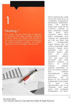Consulting Services Word Template, First Inner Page, 12470, Consulting — PoweredTemplate.com
