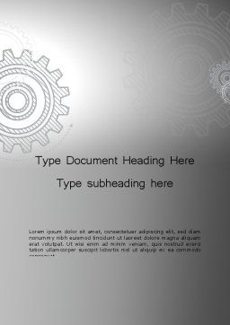 Mechanical Gears Draft Word Template, Cover Page, 12472, Utilities/Industrial — PoweredTemplate.com