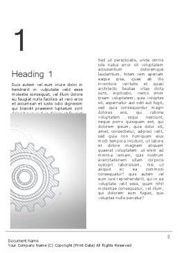 Mechanical Gears Draft Word Template, First Inner Page, 12472, Utilities/Industrial — PoweredTemplate.com
