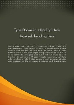 Orange Wave on Gray Word Template, Cover Page, 12482, Business — PoweredTemplate.com