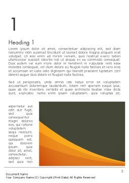 Orange Wave on Gray Word Template, First Inner Page, 12482, Business — PoweredTemplate.com