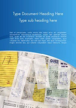 Household Bills Word Template, Cover Page, 12489, Financial/Accounting — PoweredTemplate.com