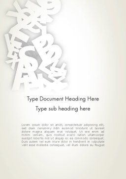 Abstract Alphabet Word Template Cover Page