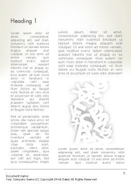 Abstract Alphabet Word Template First Inner Page