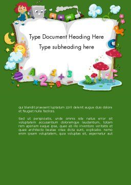 Storybook Word Template Cover Page