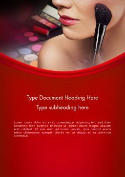 Make Up Word Template, Cover Page, 12493, Careers/Industry — PoweredTemplate.com