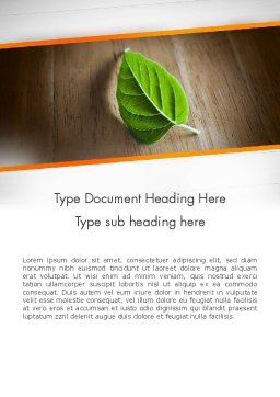 Turn Over a New Leaf Word Template, Cover Page, 12499, Consulting — PoweredTemplate.com