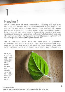 Turn Over a New Leaf Word Template, First Inner Page, 12499, Consulting — PoweredTemplate.com