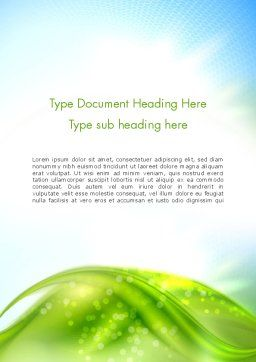 Green Dream Spotty Word Template, Cover Page, 12501, Nature & Environment — PoweredTemplate.com