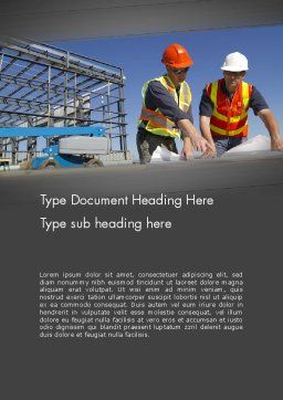 Building and Construction Word Template, Cover Page, 12502, Construction — PoweredTemplate.com