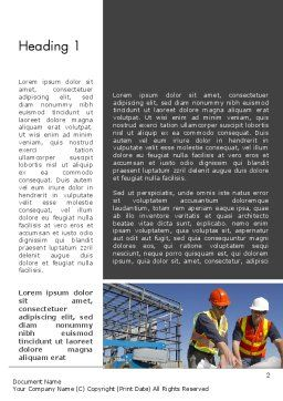 Building and Construction Word Template, First Inner Page, 12502, Construction — PoweredTemplate.com