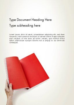 Red Page Word Template, Cover Page, 12503, Business — PoweredTemplate.com