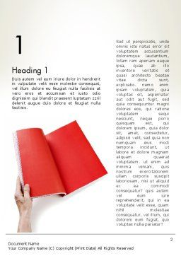 Red Page Word Template, First Inner Page, 12503, Business — PoweredTemplate.com