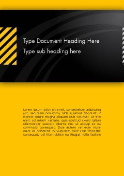 Cool Black Orange Theme Word Template, Cover Page, 12514, Business — PoweredTemplate.com