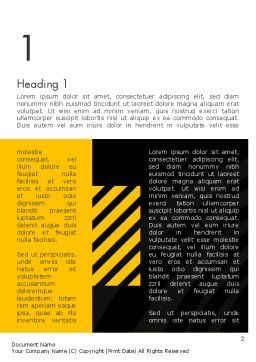 Cool Black Orange Theme Word Template, First Inner Page, 12514, Business — PoweredTemplate.com