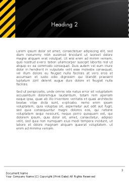 Cool Black Orange Theme Word Template, Second Inner Page, 12514, Business — PoweredTemplate.com