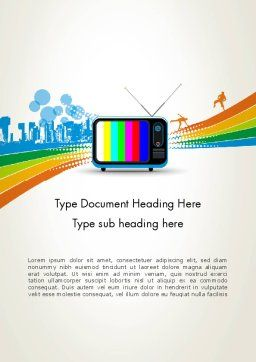 Online TV Concept Word Template, Cover Page, 12521, Careers/Industry — PoweredTemplate.com