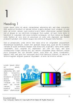 Online TV Concept Word Template, First Inner Page, 12521, Careers/Industry — PoweredTemplate.com