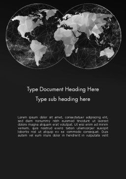Polygonal World Map Word Template Cover Page