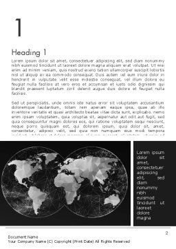 Polygonal World Map Word Template First Inner Page