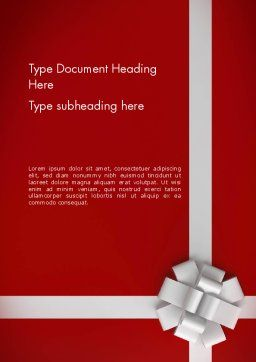 Gift Theme Word Template, Cover Page, 12526, Holiday/Special Occasion — PoweredTemplate.com