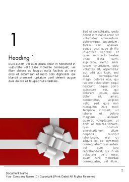 Gift Theme Word Template, First Inner Page, 12526, Holiday/Special Occasion — PoweredTemplate.com