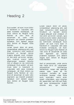 Building Business Blocks Word Template Second Inner Page