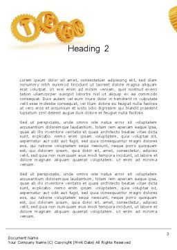 Excellent Team Word Template, Second Inner Page, 12532, Careers/Industry — PoweredTemplate.com
