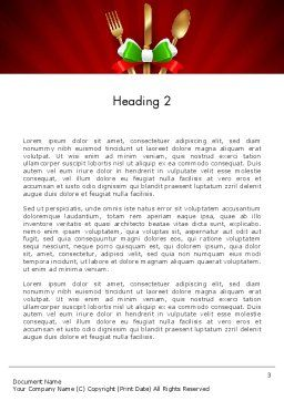 Italian Restaurant Word Template Second Inner Page