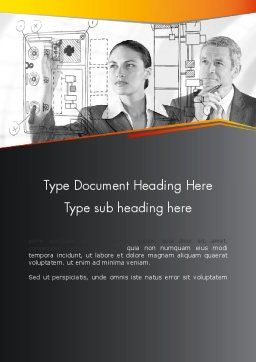 Technology Audit Word Template, Cover Page, 12534, Consulting — PoweredTemplate.com