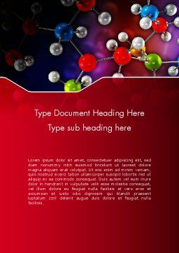 Molecular Computer Model Word Template, Cover Page, 12536, Technology, Science & Computers — PoweredTemplate.com
