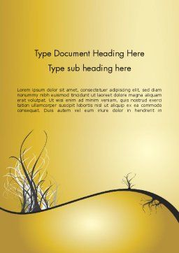 Abstract Tree Branch Word Template Cover Page