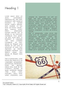 Route 66 Word Template First Inner Page