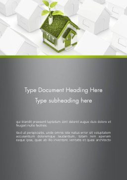 Green Deal Word Template, Cover Page, 12546, Nature & Environment — PoweredTemplate.com