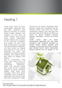 Green Deal Word Template, First Inner Page, 12546, Nature & Environment — PoweredTemplate.com